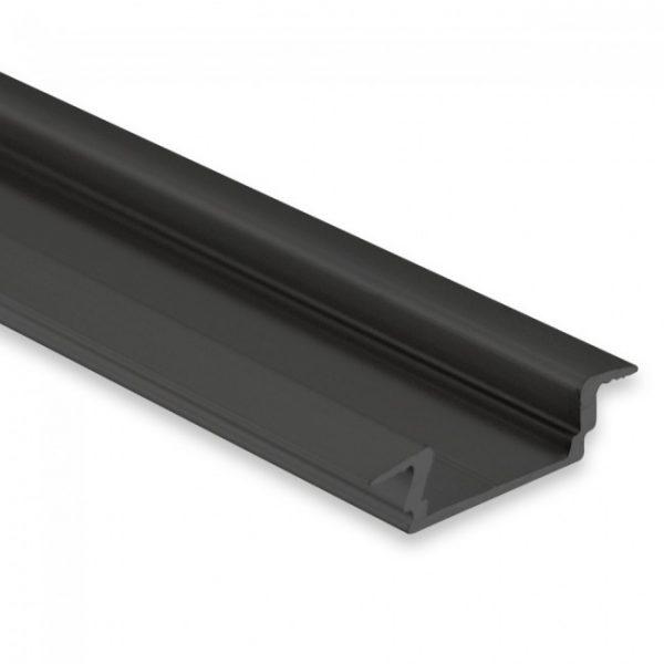 LED Einbau Profil Schwarz